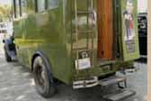 Vintage 1929 REO Camping Wagon trailer with helpful fold-out steps leading to rear door