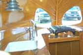 Vintage 1936 Airstream Clipper trailer with unique antique gas cooktop