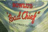 1936 Bowlus Road Chief vintage trailer with new Bowlus logo graphics painted on the fender