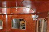 Beautiful un-restored cabinet work in 1937 Royal Wilheim Travel trailer