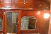 Original woodwork and curved top windows in 1937 Royal Wilheim Trailer