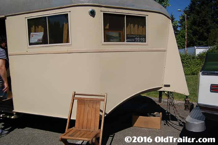 Vintage 1937 Vagabond trailer still has the original window frames