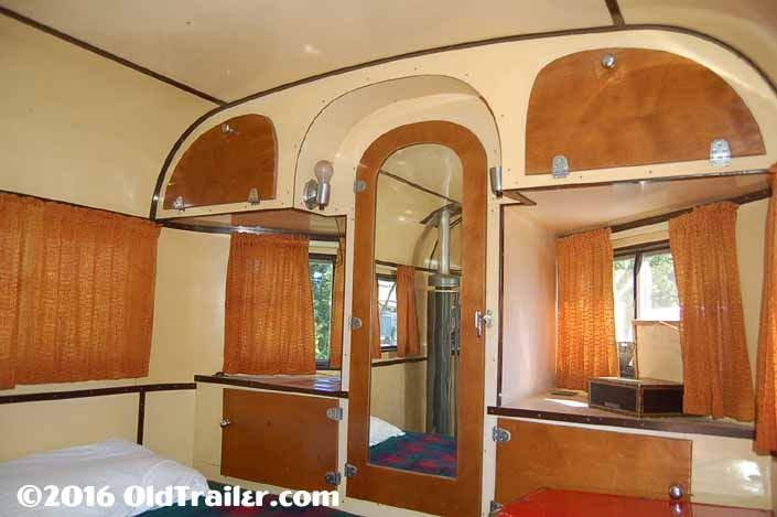 1937 vintage Vagabond trailer interior cabinetry