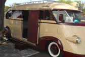 1941 Brooks Stevens Western Flyer Trailer, with side door giving access to camper interior