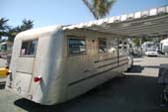 Vintage 1945 Spartan Manor Silver Queen Already Shows Classic Spartan Sloping Rear End
