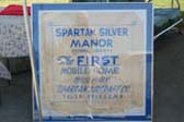 Original Sign for 1945 Spartan Manor Silver Queen Travel Trailer Built in Tulsa Oklahoma