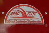 1947 Aero Flite vintage trailer with a new reproduction Aero Flite emblem plate on the side