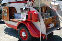 Vintage Tear Drop trailers, design ideas, interior details, skin details