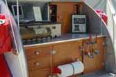 Vintage 1947 Ken skill Teardrop Trailer With Efficient Kitchen