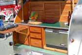1947 Kit Teardrop Trailer Restoration, Picture of Wood Kitchen Cabinets