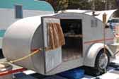 Vintage 1947 Modern-Air Teardrop Trailer in Unrestored Condition