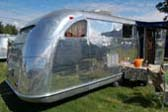 Photo of Iconic Sloped Rear End on Spectacular 1947 Spartan Manor Trailer