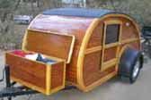 Professional Custom Wooden 1947 Teardrop Trailer With All Wood Storage Box