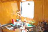 Photo of beautiful stainless steel kitchen countertop - 1948 Spartan Manor Trailer