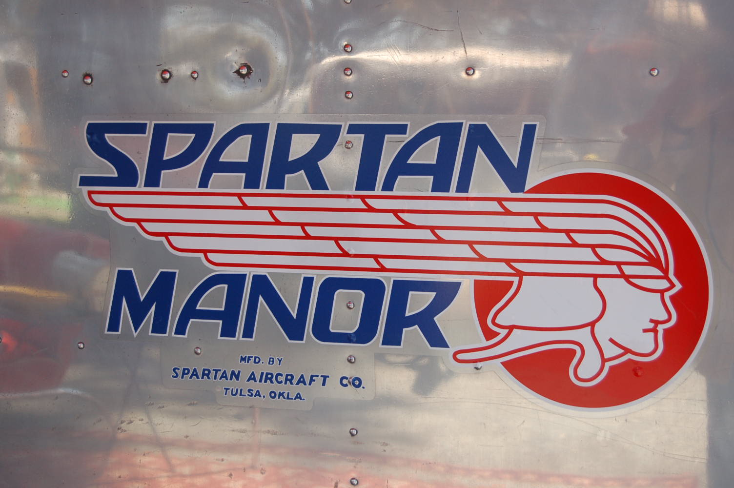 Shot Of Perfect Spartan Factory Logo On Side 1948 Manor Travel Trailer