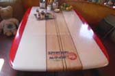 1948 Spartan Manor Trailer With Amazing Spartan Surfboard Dining Room Table