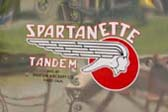 Colorful Spartanette Logo Looks Great on Vintage 1948 Spartanette Tandem Trailer