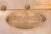 1948 Terry Rambler vintage trailer still has its original Terry Rambler oval id plate