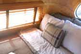 Photo of elegant bedroom in vintage 1948 Westcraft Sequoia Trailer