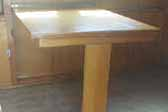 Un-restored dining table in vintage 1948 Westcraft Westwood trailer