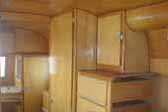 Photo of beautiful cabinets and woodwork in 1948 Westcraft Westwood trailer