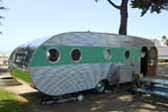 Photo of a nicely restored vintage 1950 Airfloat 28ft. Land-Yacht travel trailer