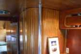 Expertly restored wood-work, cabinetry and paneling in 1950 Airfloat Trailer Coach