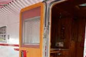 Very Sharp Wooden Screen Door on Entry to 1950 Spartanette Tandem Trailer