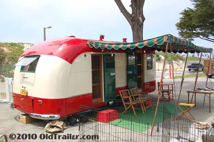Camping at the Pismo Trailer rally in an awesome 1950 vintage Vagabond trailer