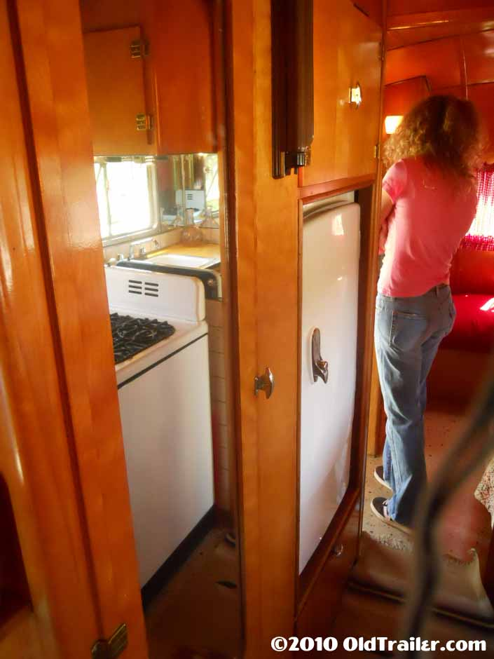 Vintage 1950 Vagabond travel trailer with original gas stove and fridge
