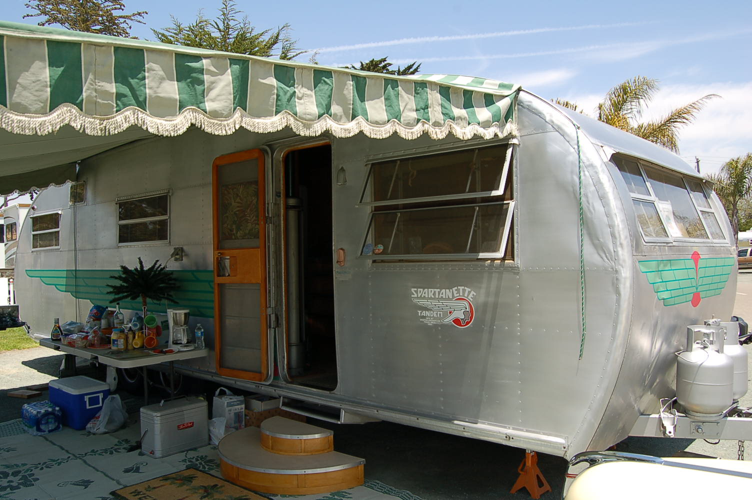 Vintage Trailer Awnings, from OldTrailer com