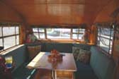 Very Nicely Decorated Dining Area in 1951 Spartanette Tandem Travel Trailer