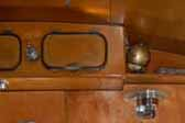 1952 Airfloat travel trailer with beautifully restored wood cabinets and paneling