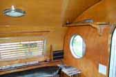1952 Airfloat trailer has beautifully restored wood ceiling and wall paneling