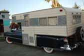 Classic 1952 Cadillac that has been customized into a stylish vintage camper unit