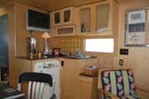 Classic 50's Retro Kitchen in 1952 Spartan Royal Manor Trailer