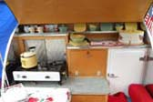 Classic 1953 Boost Teardrop Trailer Has a Very Complete & Retro Kitchen