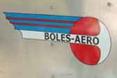 Picture of a new reproduction decal on a 1954 Boles Aero trailer