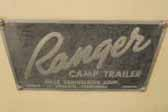1954 Ranger Tent trailer with an original Ranger logo badge plate on the front