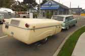 Picture of an awesome 1950 vintage Vagabond trailer camping at the Pismo Trailer rally