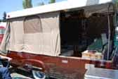 Restored 1954 Sport Ranger Trailer With Fiberglass Poptop and Canvas Tent Sides