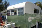 Beautifully restored 1955 Aljoa Sportsman Travel Trailer