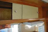 Vintage 1955 Shasta Travel trailer with Cabinet Over Kitchen Counter