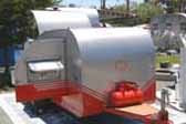 Vintage 1956 Benroy Teardrop Trailer Nice Details and Period Look