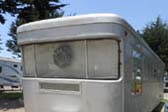 Classic Warp-Around Front Windows of 1958 Spartan Royal Manor Travel Trailer