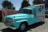 Very cool vintage hinged top camper mounted on a vintage 1960 International Harvester pickup truck based camper