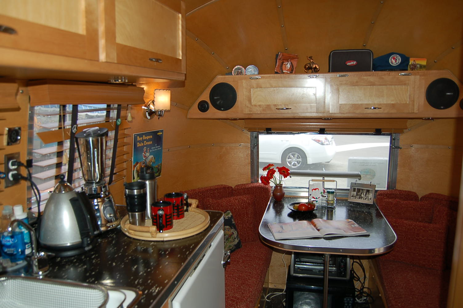 Amazing 1961 Airstream Globetrotter With Very Sharp Countertop And Cabinets In  Galley