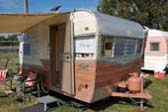 1961 Shasta travel trailer at Mount Baker Rally in Lynden, Washington