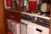 1962 Shasta Compact Trailer, Wood Cabinets in Kitchen Area