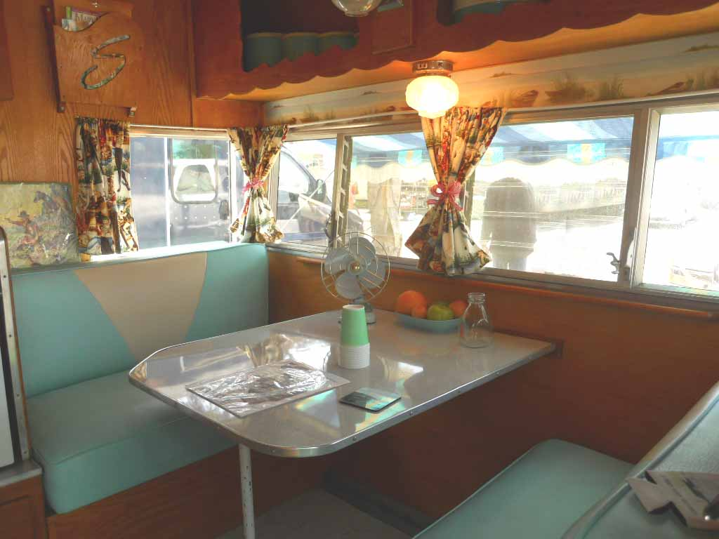 Beautiful Vintage Roadrunner Travel Trailer  Stunning Canned Ham Wood Interior